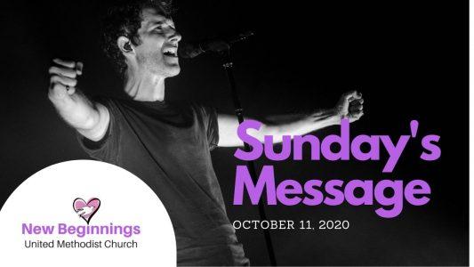 Sunday Message 10112020