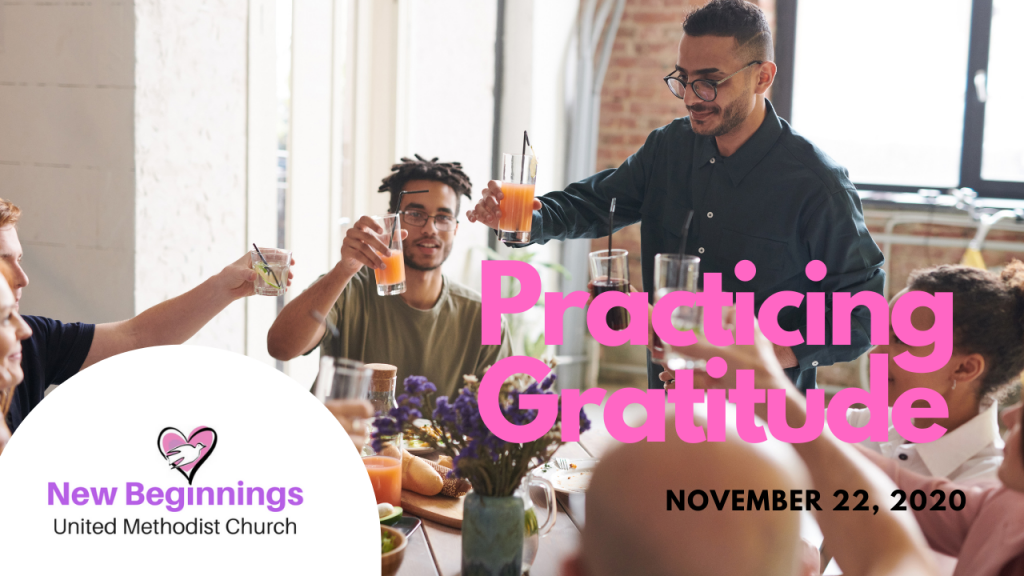 Sunday Message Practicing Gratitude